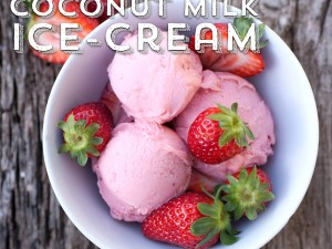 Strawberry & Coconut Milk Ice-cream