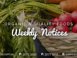 Weekly Notice Wk 3217 – 7th August 2017