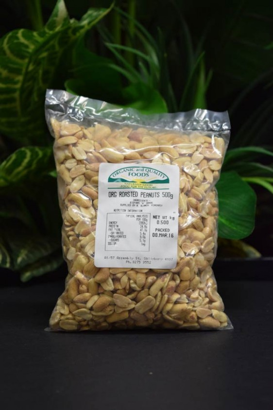 ORG Roasted Peanuts 500g