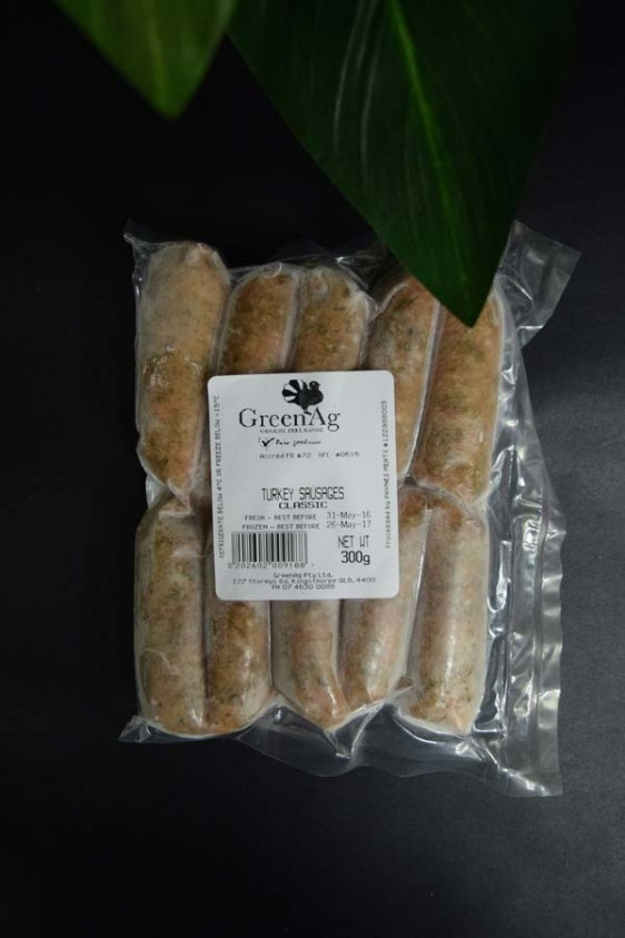 ORG Gourmet Classic Turkey Sausages 300g