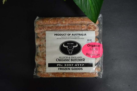 *ORG Lamb/Rosemary and Mint Sausages 500g