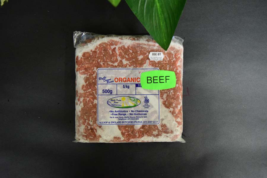 *ORG Beef Mince 500g
