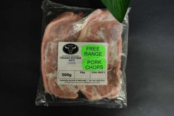 *Free/Range Pork Chops 500g
