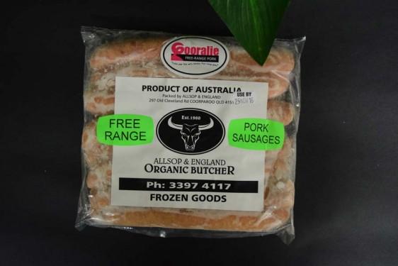 *Free/Range Pork Sausage 500g (Thin)