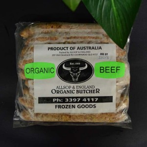 *ORG Thin Beef Sausages 500g