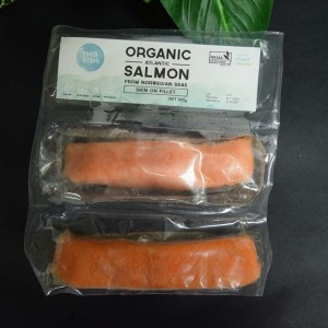 ORG Atlantic Salmon Skin On 280g (2 frozen fillets)