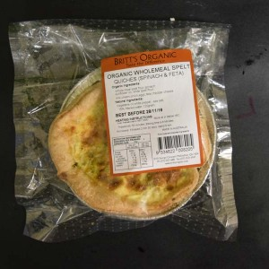 UO Spelt Spinach and Fetta Quiche 120g