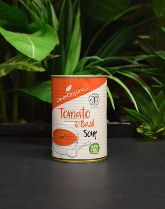 ORG Tomato and Basil Soup (can) 400g