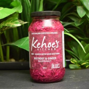 P/O ORG Kehoe's Sauerkraut 500ml B'root and Ginger